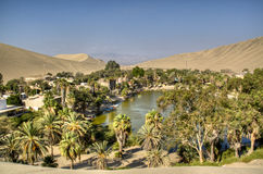 Oase in Huacachina stock afbeelding
