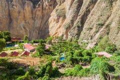 Oase Sangalle bij de bodem van Colca-canion royalty-vrije stock foto's