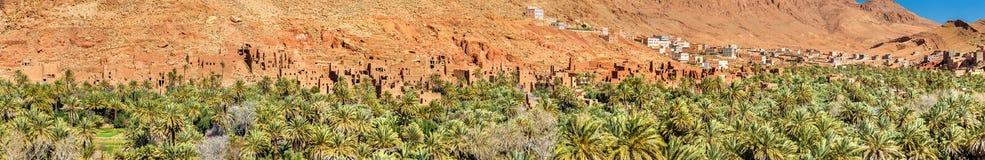 Oase van de Todra-Rivier in Tinghir, Marokko stock fotografie