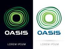Oasen-Gusstypographie Stockfoto