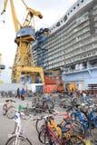Oasi della costruzione dei mari Fotografie Stock
