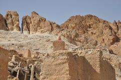 Oasi di Chebika in Tunisia del sud. Fotografie Stock Libere da Diritti