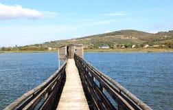 Oasi La瓦尔在特拉西梅诺湖,意大利 库存照片