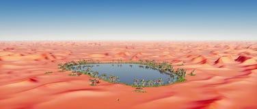 Oasi nel deserto Immagini Stock Libere da Diritti