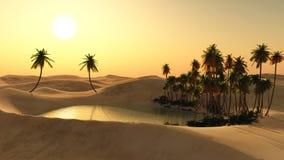 Oasi nel deserto Fotografie Stock