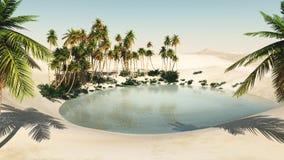 Oasi nel deserto Fotografia Stock Libera da Diritti