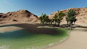 Oasi nel deserto Immagini Stock