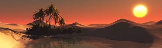 Oasi nel deserto sabbioso Fotografie Stock