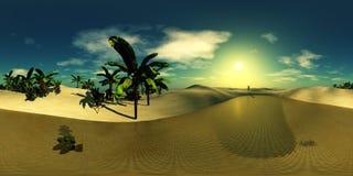 Oasi nel deserto sabbioso Immagine Stock Libera da Diritti