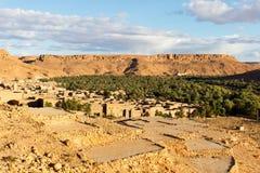 Oasi nella valle di Dade, Marocco fotografia stock