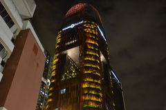 Oasia-Hotel im Stadtzentrum gelegen, Singapur Stockfotografie