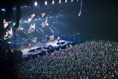 Oasis. Gallagher brothers at the sheffield arena UK royalty free stock image
