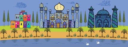 Oasis Stock de ilustración