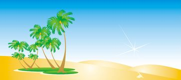 Oasis. Series of desert illustrations and backgrounds Royalty Free Stock Photography
