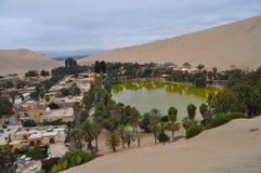 Oasis au Pérou Photographie stock libre de droits