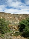 The oasis Barranca de la Madre of Ajui on Fuerteventura Stock Image