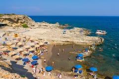 Oasis Beach near Faliraki Royalty Free Stock Photos