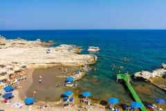 Oasis Beach near Faliraki Stock Photography