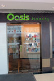 Oasis beauty shop in metro city plaza Royalty Free Stock Photos