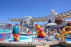 Oasis à bord de zone exposée aux projections de gosses des mers Image libre de droits