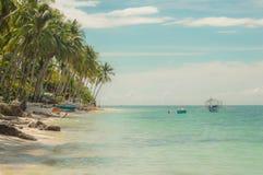 Tropical paradise at Anda on the Philippine Island of Bohol royalty free stock image