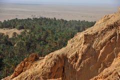 Oasis Chebika de la Tunisie Image stock