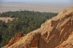 Oasis Chebika de Túnez imagen de archivo