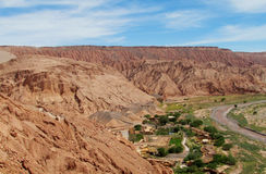 Oasis city in Atacama, Chile stock photography