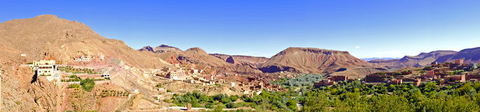Oasis in the dade valley in Morocco Africa Stock Image