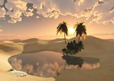 Oasis dans le désert illustration stock