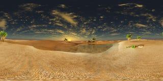Oasis dans le désert illustration libre de droits