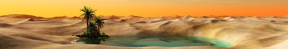 Oasis dans le désert Image stock