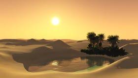 Oasis dans le désert arénacé Photographie stock