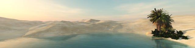 Oasis dans le désert arénacé illustration libre de droits