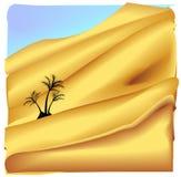 Oasis dans le désert de Sahara illustration de vecteur