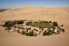 Oasis de Huacachina, Pérou photo libre de droits