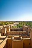 Oasis de Skoura par la vallée de Draa au Maroc images libres de droits