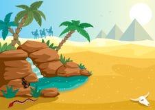 Oasis del desierto ilustración del vector
