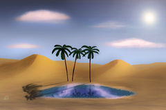 Oasis in the desert Stock Image