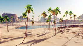Oasis in the desert Royalty Free Stock Image
