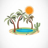 Oasis in the desert -  Royalty Free Stock Photos