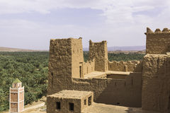 An oasis at the desert,kasbah Stock Image