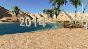 Oasis in the desert 2014 summer Royalty Free Stock Images