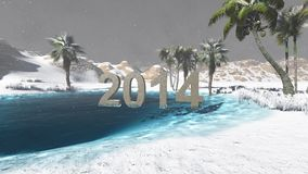 Oasis in the desert 2014  winter Royalty Free Stock Photo