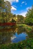 Oasis en jardín botánico en Zagreb imagen de archivo libre de regalías