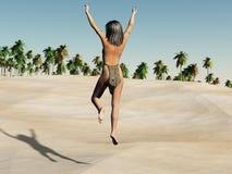 Oasis heureuse Photographie stock libre de droits