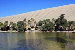 Oasis of Huacachina in Atacama desert, Peru Stock Photo