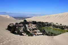 Oasis of Huacachina in Atacama desert, Peru Stock Images