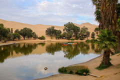 Oasis of Huacachina, Ica region, Peru. Stock Images