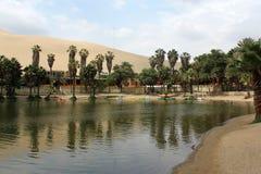Oasis huacachina. The oasis of huacachina near ica city Stock Image